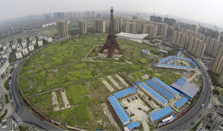 Копия Эйфелевой башни. Г. Ханчжоу, пр. Чжэцзян.